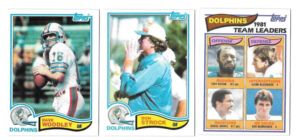 1982 Topps Football Team Set - MIAMI DOLPHINS