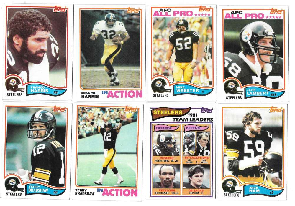 1982 Topps Football Team Set - PITTSBURGH STEELERS