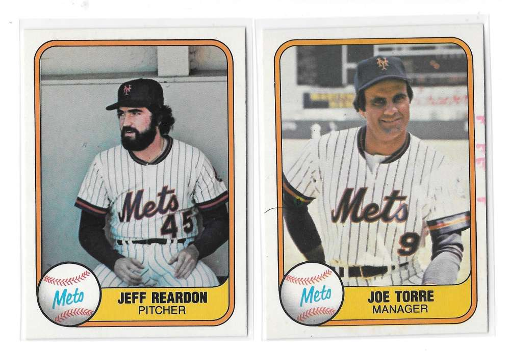 1981 FLEER - NEW YORK METS Team Set