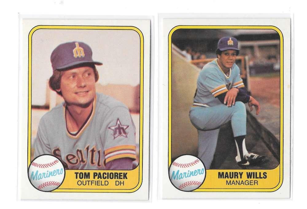 1981 FLEER - SEATTLE MARINERS Team Set