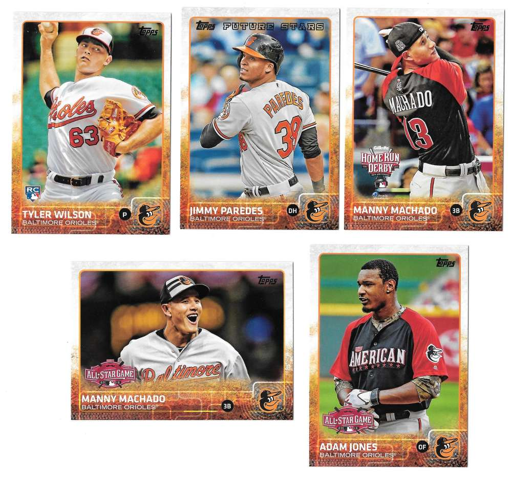 2015 Topps Update - BALTIMORE ORIOLES Team Set