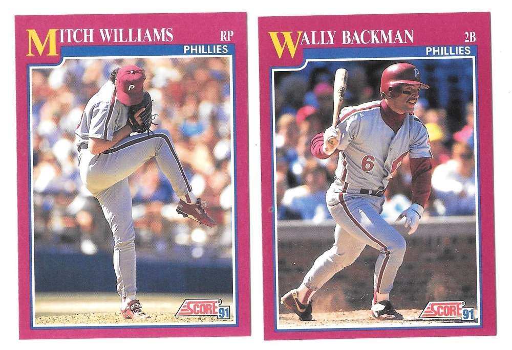 1991 Score Rookies and Traded PHILADELPHIA PHILLIES Team Set