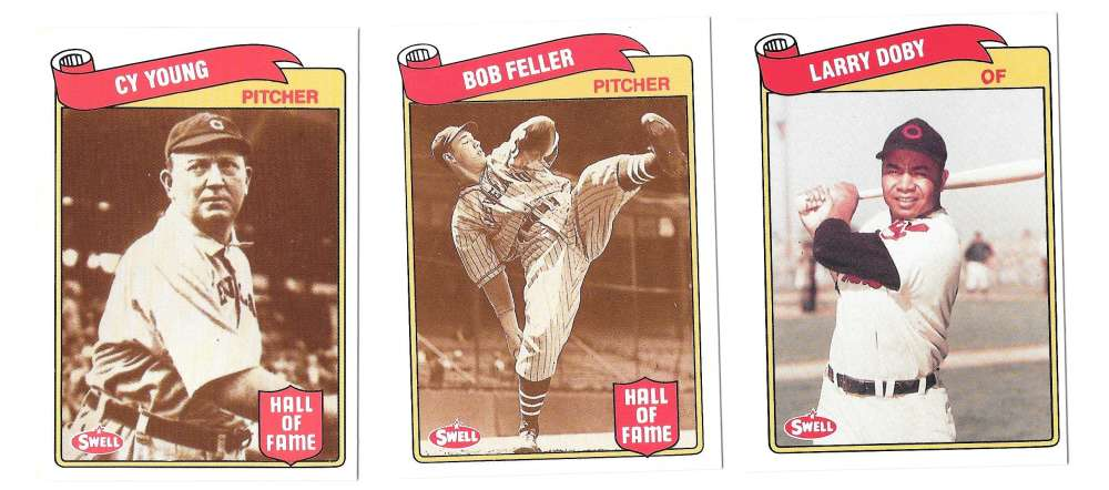 1989 Swell Baseball Greats - CLEVELAND INDIANS Team Set