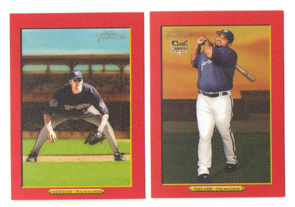 2006 Topps Turkey Red Parallel - MILWAUKEE BREWERS Team Set