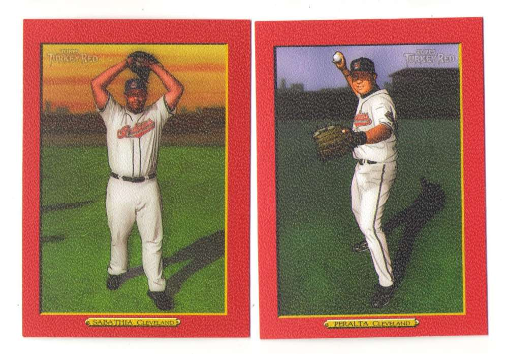 2006 Topps Turkey Red Parallel - CLEVELAND INDIANS Team Set