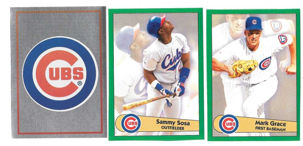 1996 Panini Stickers CHICAGO CUBS Team Set