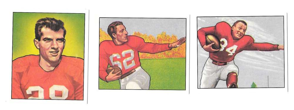 1950 Bowman Football Reprint Team Set - CHICAGO CARDINALS