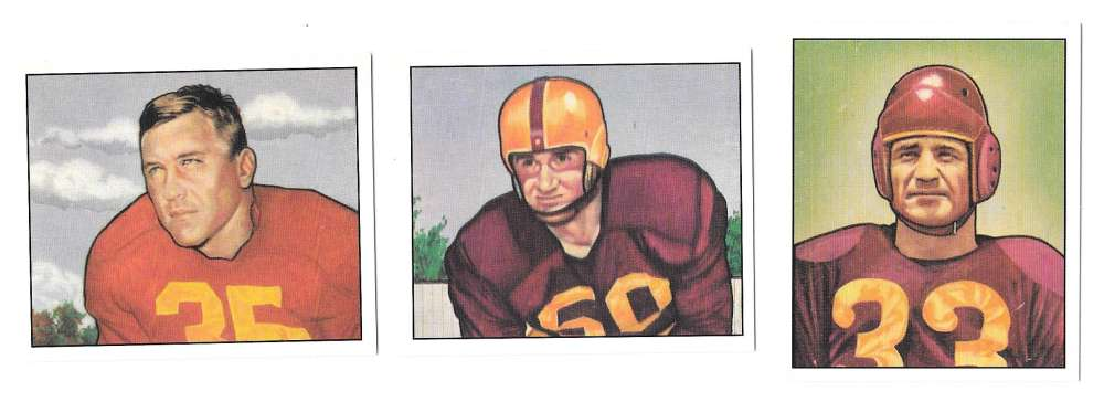 1950 Bowman Football Reprint Team Set - WASHINGTON REDSKINS