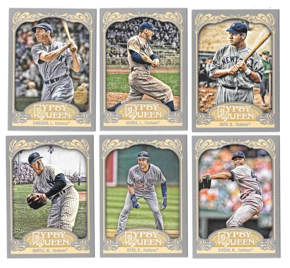 2012 Topps Gypsy Queen - NEW YORK YANKEES Team Set