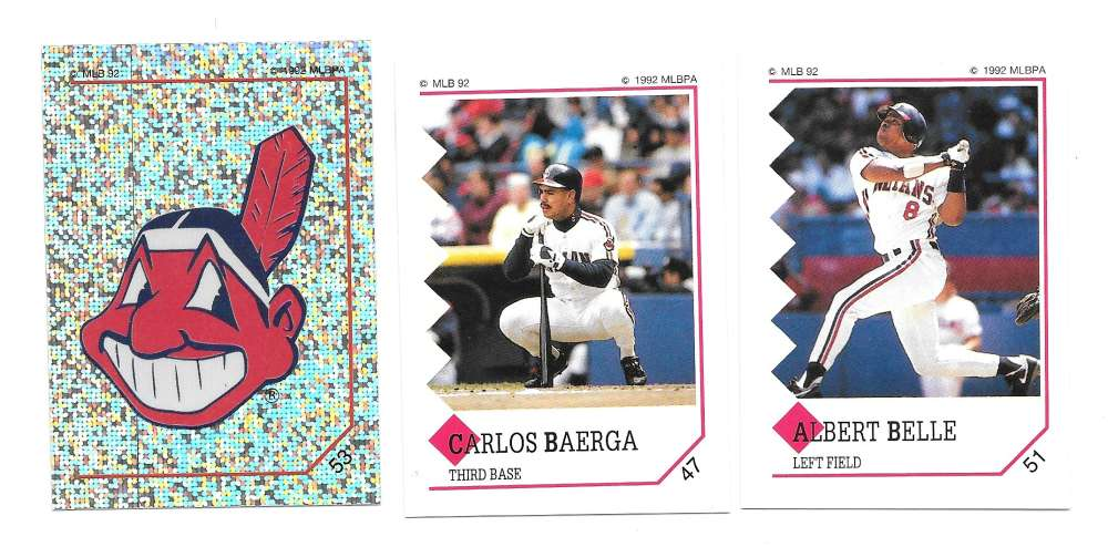 1992 Panini Stickers - CLEVELAND INDIANS Team Set