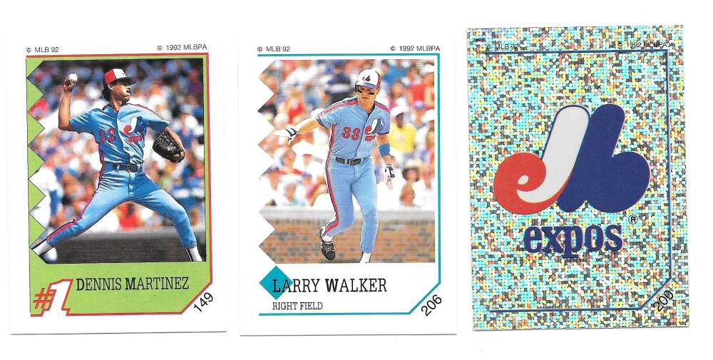 1992 Panini Stickers - MONTREAL EXPOS Team Set