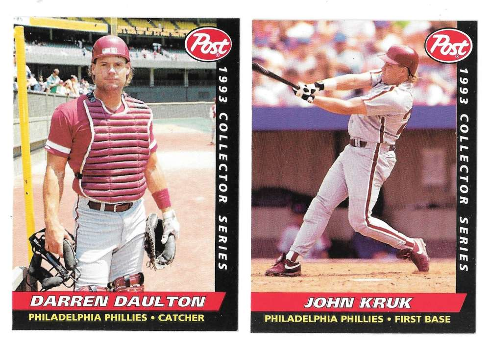 1993 Post - PHILADELPHIA PHILLIES Team Set