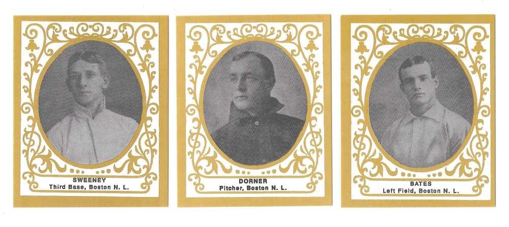 1909 Ramly T204 Reprints - BOSTON BRAVES Team Set