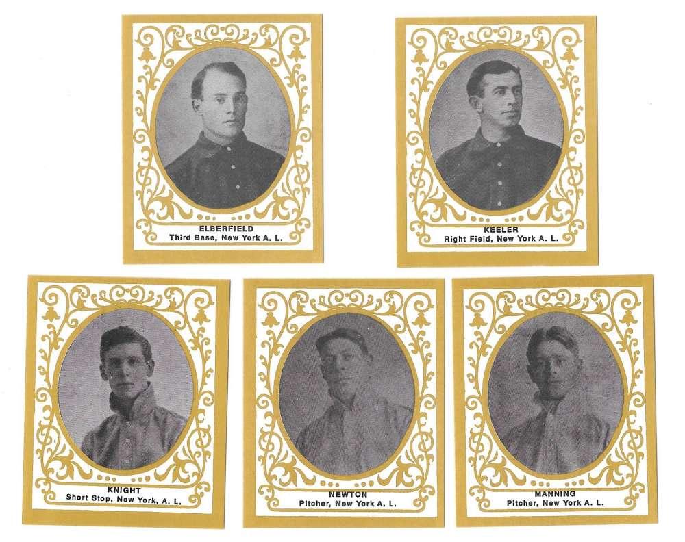 1909 Ramly T204 Reprints - NEW YORK YANKEES Team Set