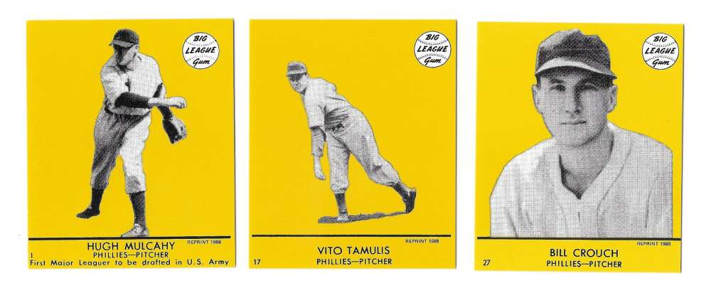 1941 Goudey (Yellow) Reprints - PHILADELPHIA PHILLIES Team Set