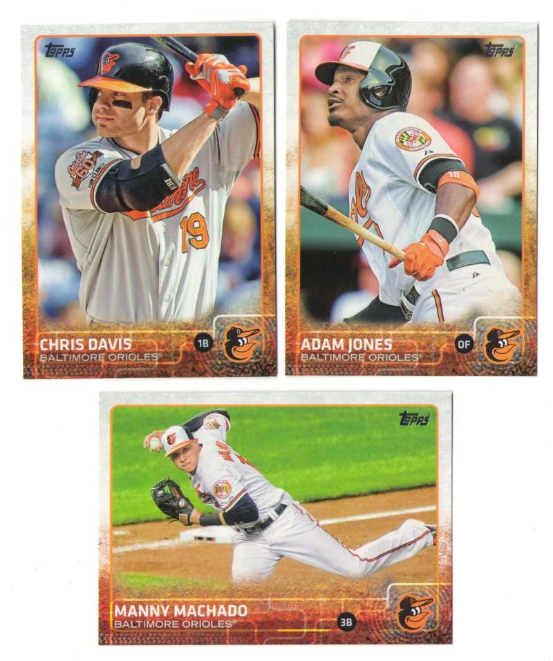 2015 TOPPS Mini - BALTIMORE ORIOLES Team Set