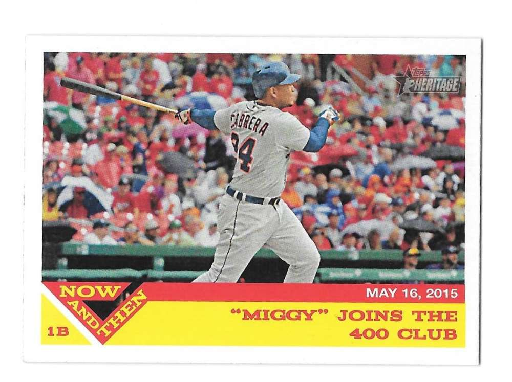2015 Topps Heritage Hi Numbers Now and Then - DETROIT TIGERS