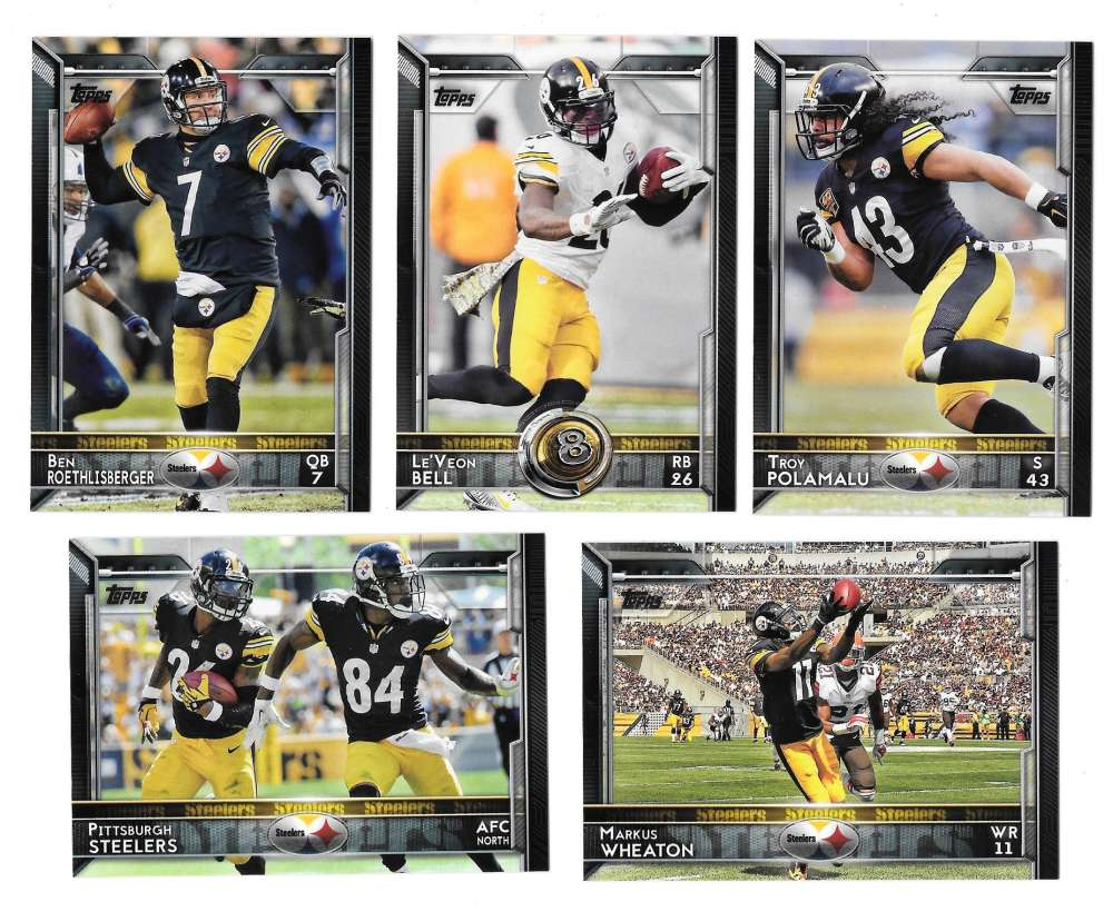 2015 Topps Football Team Set - PITTSBURGH STEELERS