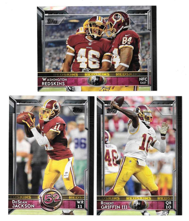 2015 Topps Football Team Set - WASHINGTON REDSKINS