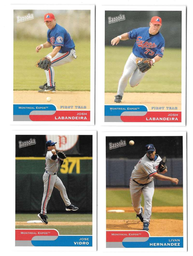 2004 Bazooka w/ Variation - MONTREAL EXPOS Team Set