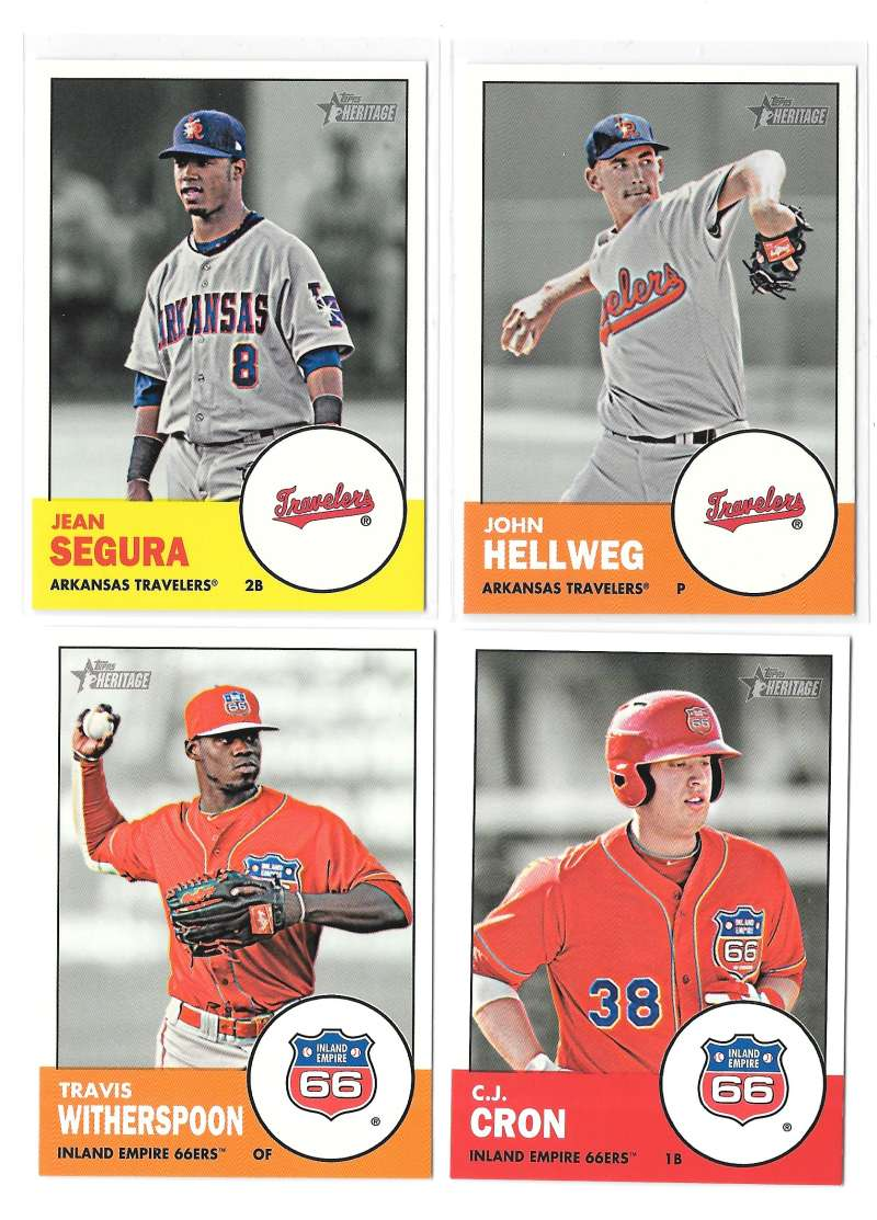 2012 Topps Heritage Minors (1-225) - LOS ANGELES ANGELS of ANAHEIM Team Set