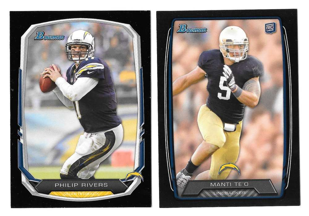 2013 Bowman Black Football Team Set - SAN DIEGO CHARGERS