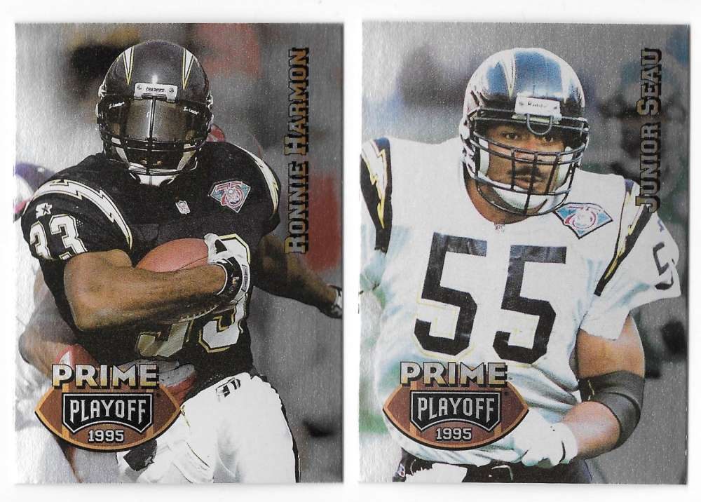 1995 Playoff Prime Football Team Set - SAN DIEGO CHARGERS