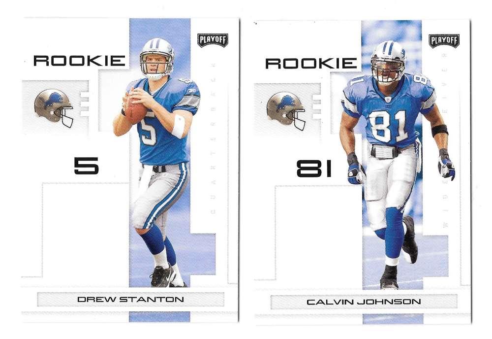 2007 Playoff NFL Football Team Set - DETROIT LIONS