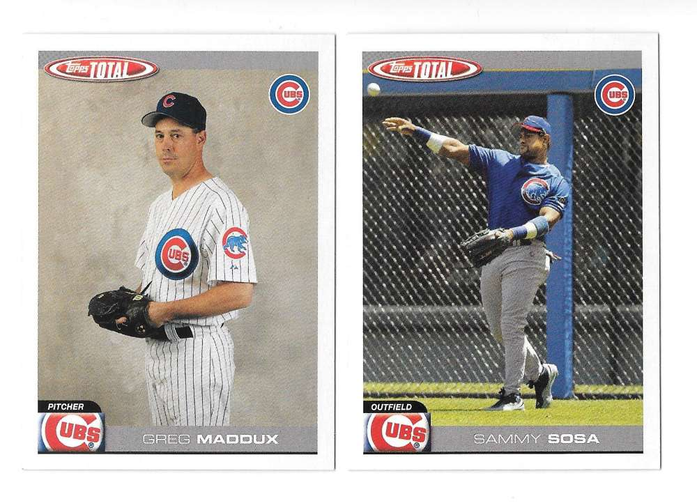 2004 Topps TOTAL - CHICAGO CUBS Team Set