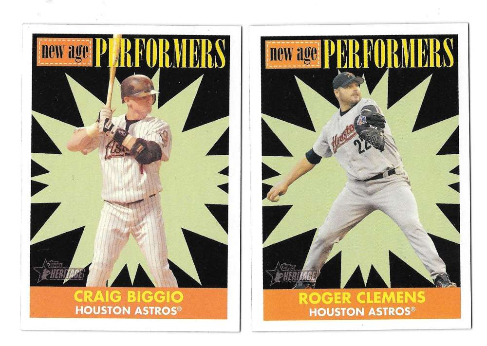 2007 Topps Heritage New Age Performers - HOUSTON ASTROS Team Set