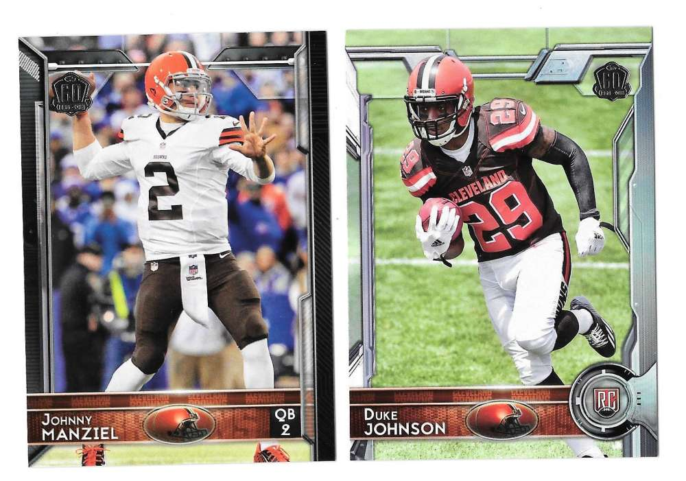 2015 Topps NFL 60th Anniversary Logo Football Team Set - CLEVELAND BROWNS
