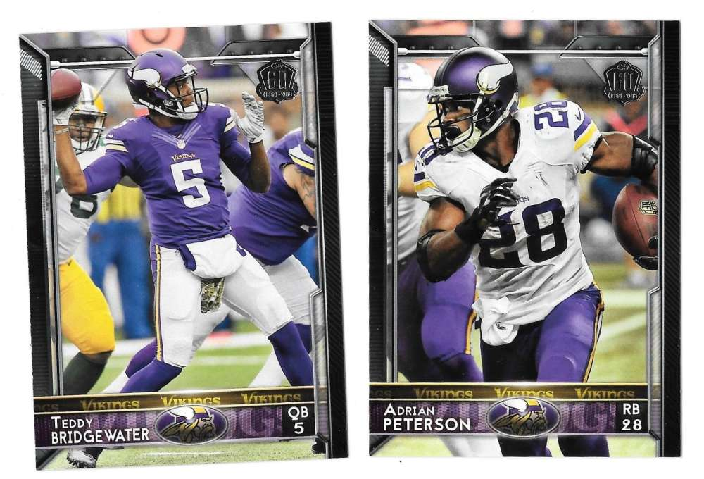 2015 Topps NFL 60th Anniversary Logo Football Team Set - MINNESOTA VIKINGS