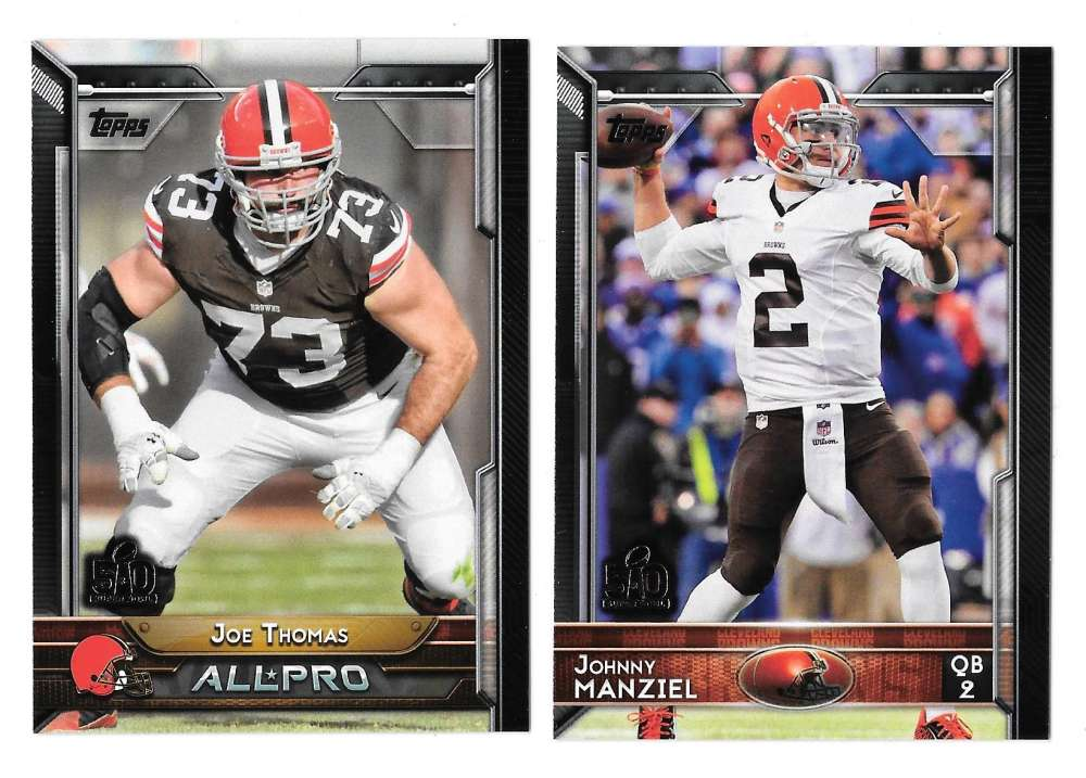 2015 Topps Super Bowl 50th Anniversary Football Team Set - CLEVELAND BROWNS