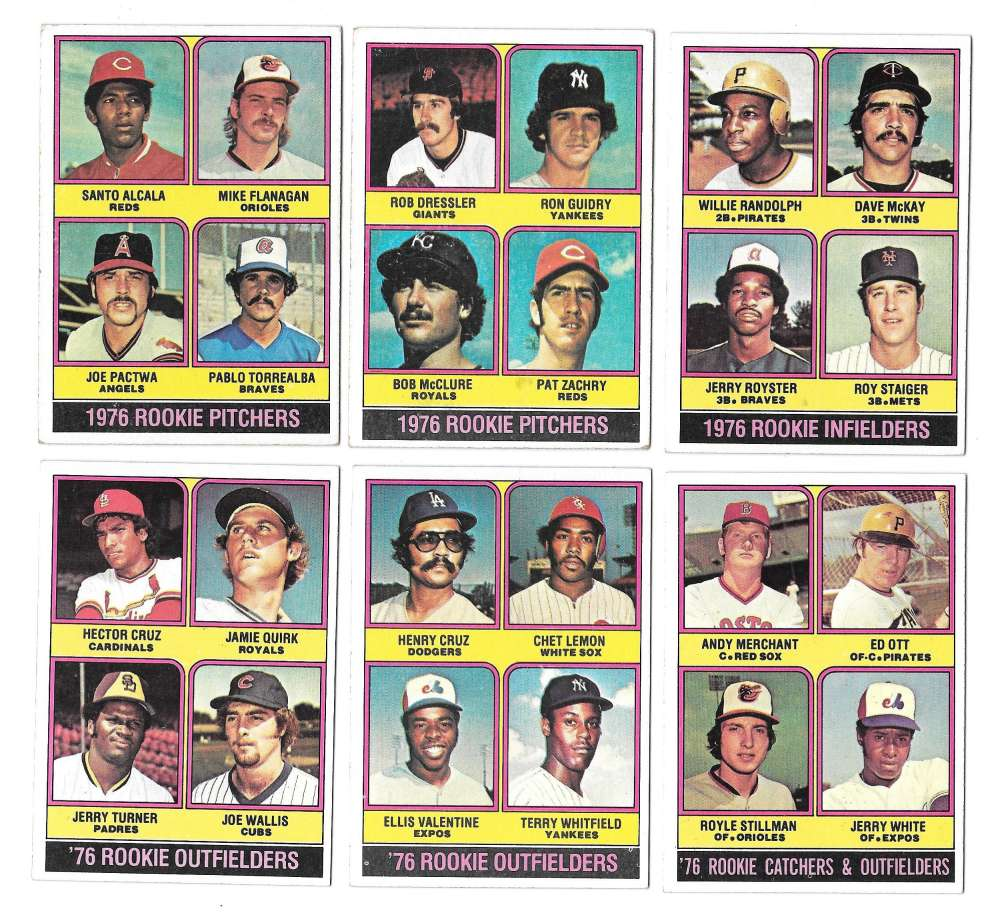 1976 Topps B EX condtion - Rookies 11 card subset