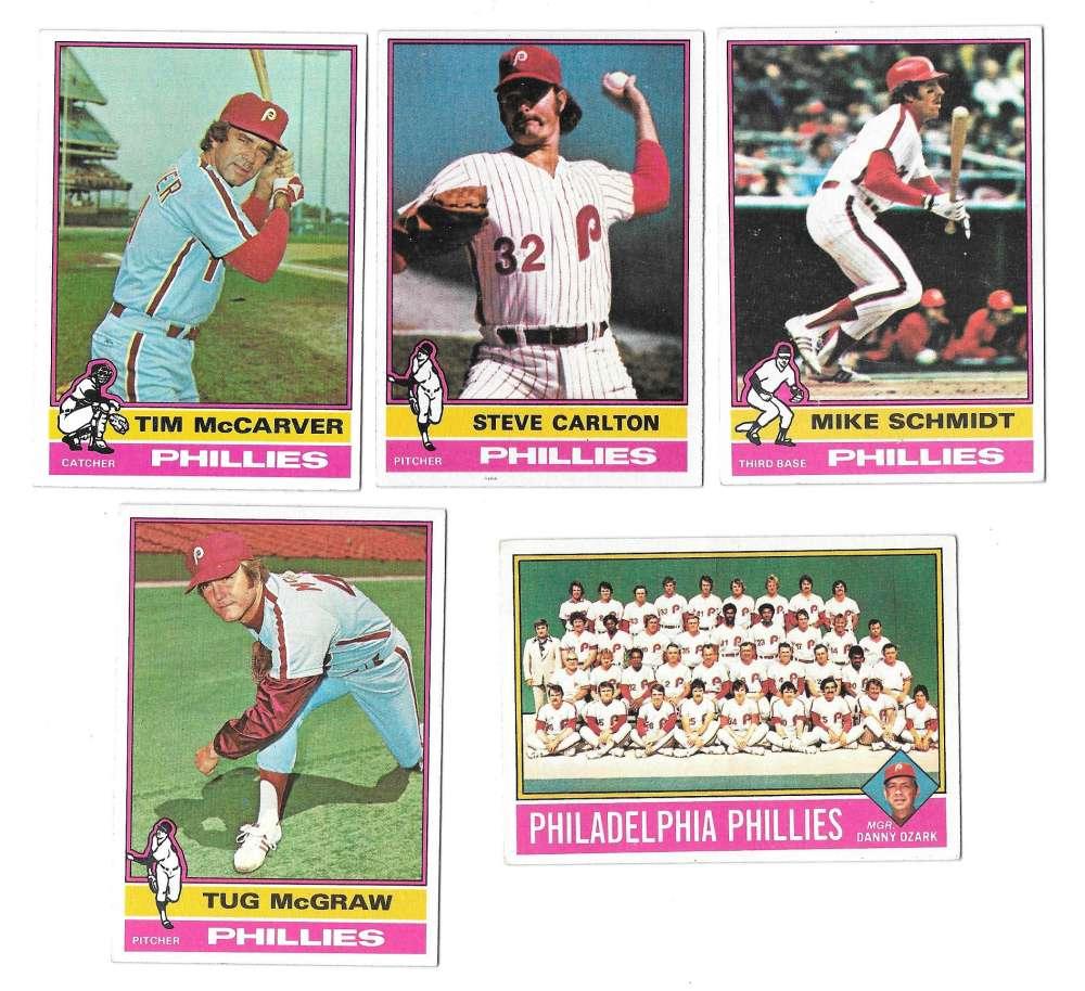 1976 Topps B EX Condition - PHILADELPHIA PHILLIES Team Set