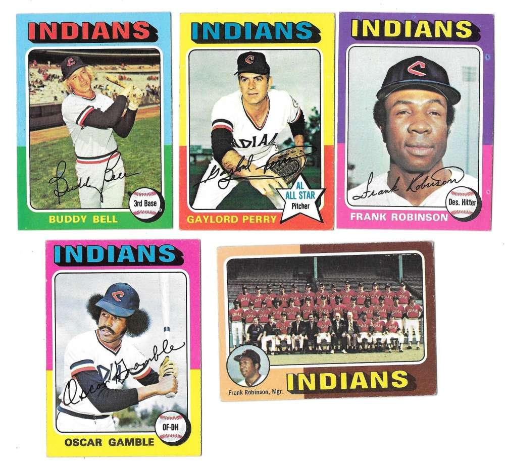 1975 Topps C EX Condtion - CLEVELAND INDIANS Team Set