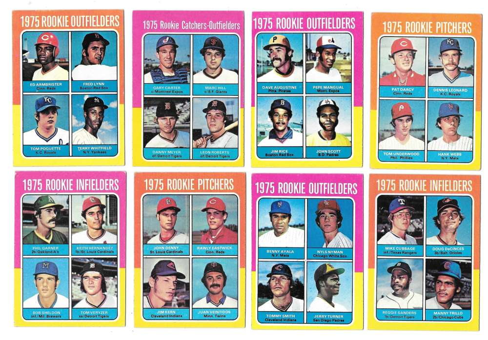 1975 Topps C EX Condition Rookies 11 card subset