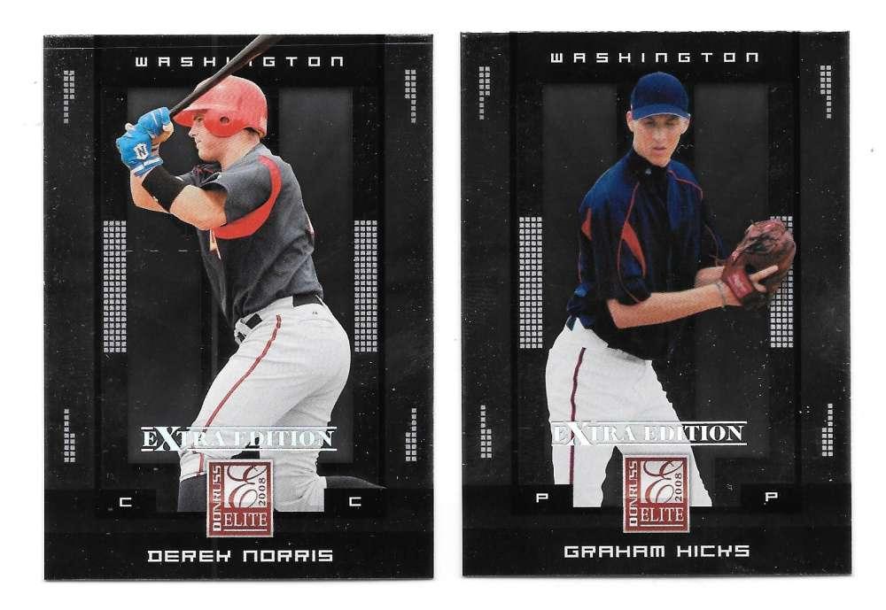 2008 Donruss Extra Edition - WASHINGTON NATIONALS Team Set