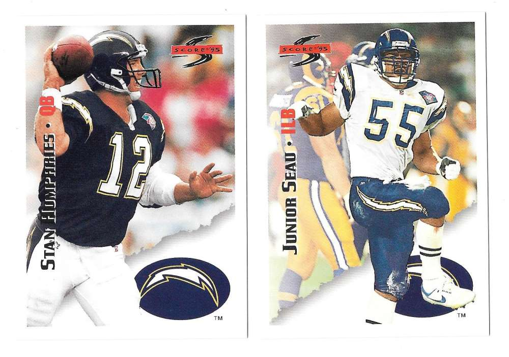 1995 Score Football Team Set - SAN DIEGO CHARGERS