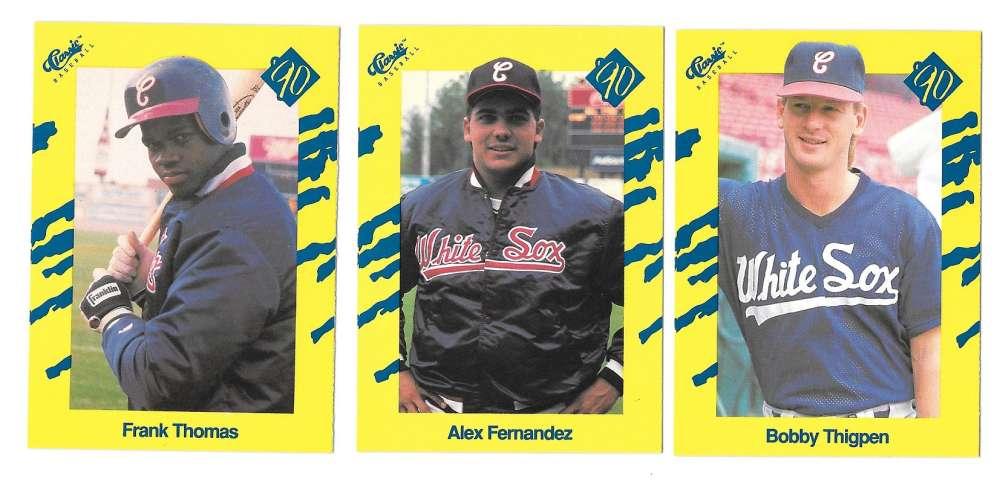 1990 Classic Yellow - CHICAGO WHITE SOX Team Set