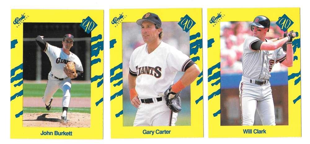 1990 Classic Yellow - SAN FRANCISCO GIANTS Team Set