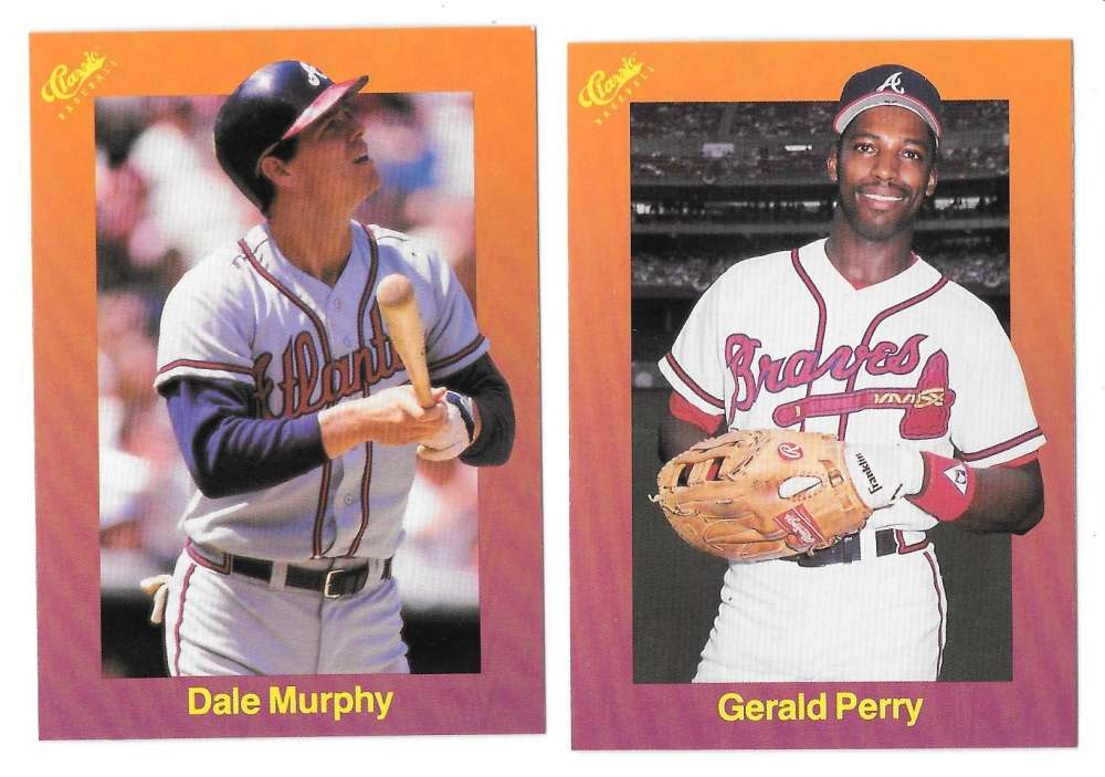1989 Classic Travel Orange - ATLANTA BRAVES Team Set