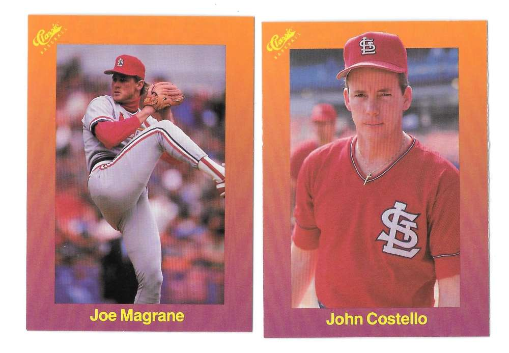 1989 Classic Travel Orange - ST LOUIS CARDINALS Team Set