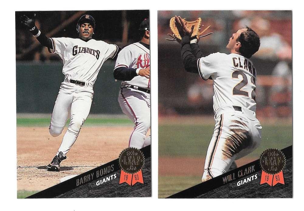 1993 LEAF - SAN FRANCISCO GIANTS Team Set
