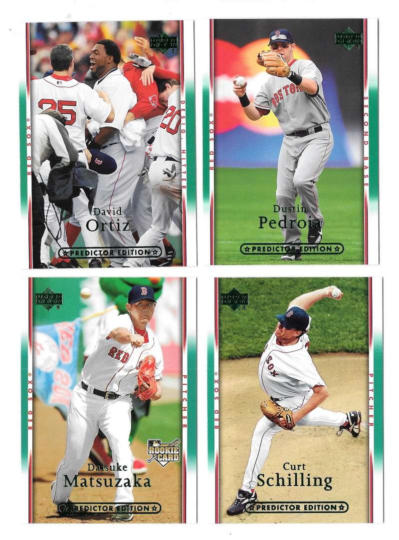 2007 UD Playoff Predictor (GREEN) - BOSTON RED SOX Team Set