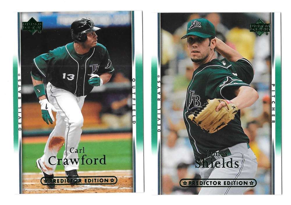 2007 UD Playoff Predictor (GREEN) - TAMPA BAY DEVIL RAYS Team Set