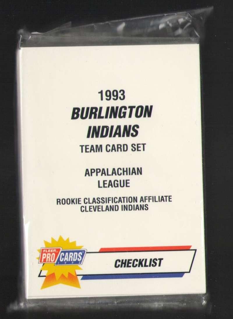 1993 Fleer Procards Minor League Team Set - Burlington INDIANS (Richie Sexson)