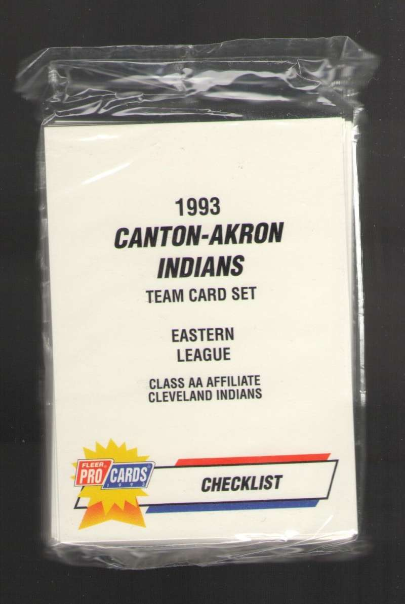 1993 Fleer Procards Minor League Team Set - Canton-Akron INDIANS (Manny Ramirez)