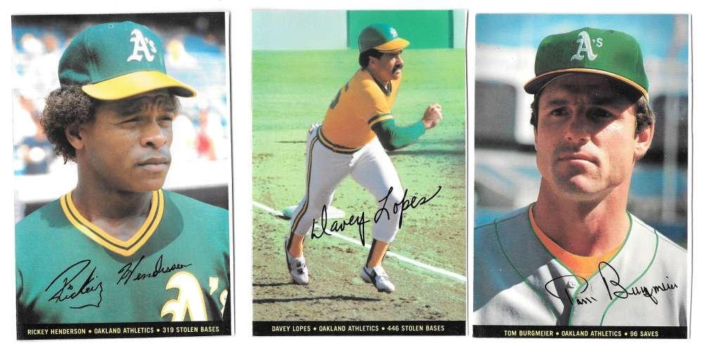 1983 Topps Foldouts (Hand Cut) - OAKLAND A's Team set