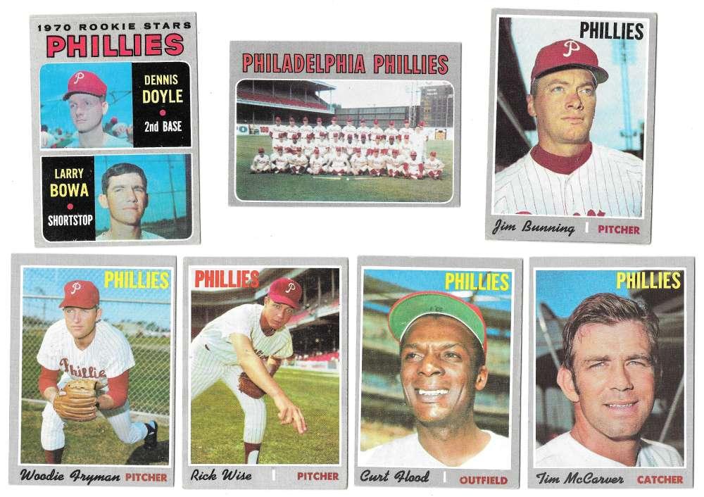 1970 Topps - EX condition PHILADELPHIA PHILLIES Team Set